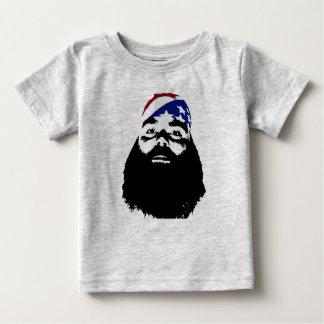 Él tenía una barba natural llena camiseta de bebé