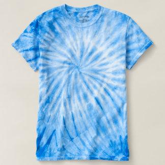 El teñido anudado azul DIY del CICLÓN añade un Camiseta