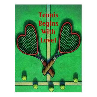 ¡El tenis de los jugadores de los deportes de la p Tarjeta Postal