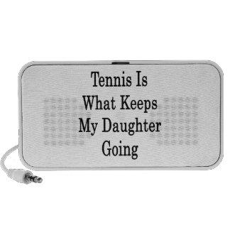 El tenis es qué guarda mi ir de la hija laptop altavoz