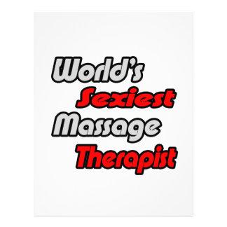 El terapeuta más atractivo del masaje del mundo folleto 21,6 x 28 cm