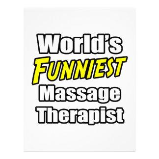 El terapeuta más divertido del masaje del mundo folleto 21,6 x 28 cm