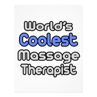 El terapeuta más fresco del masaje del mundo tarjeta publicitaria