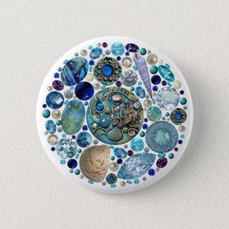 El tesoro 1 de la sirena chapa redonda de 5 cm