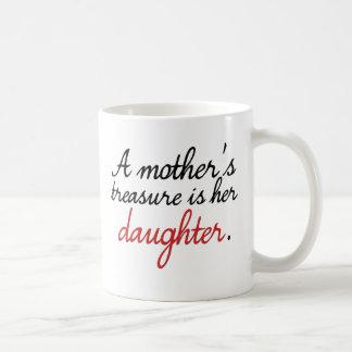El tesoro de una madre es su hija… taza básica blanca