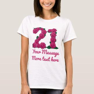 El texto de encargo 21ro personalizó la camiseta