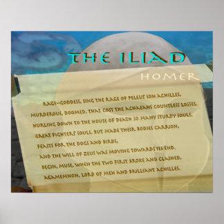 El texto de la imagen de la voluta del Iliad Póster