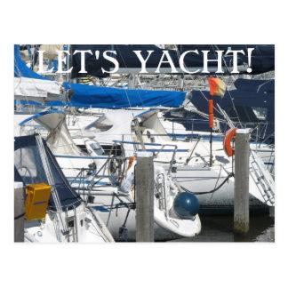 El texto náutico del puerto deportivo del yate de  postal