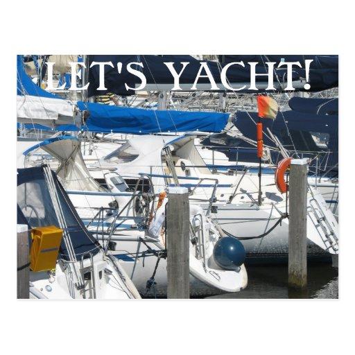 El texto náutico del puerto deportivo del yate de  postales