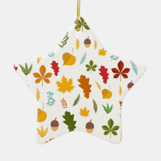 El thankgiving decoritive estacional de las hojas adorno navideño de cerámica en forma de estrella