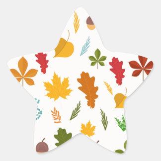 El thankgiving decoritive estacional de las hojas pegatina en forma de estrella
