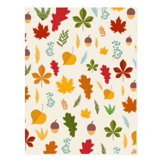 El thankgiving decoritive estacional de las hojas postal