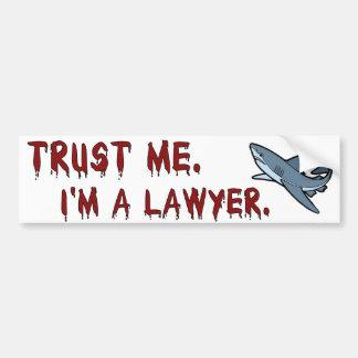 El tiburón del abogado me confía en pegatina para  pegatina para coche