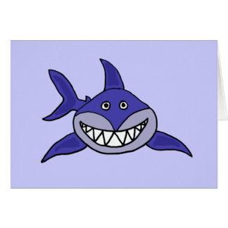 El tiburón divertido que piensa en usted carda tarjetas