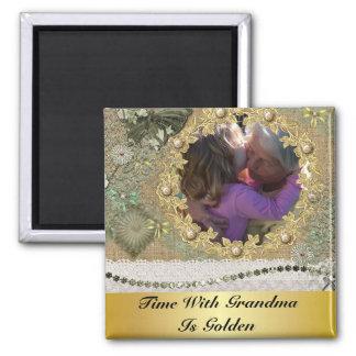 El tiempo con la abuela es de oro personalizada imán