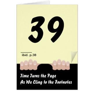 El tiempo da vuelta al cumpleaños de la página tarjetón