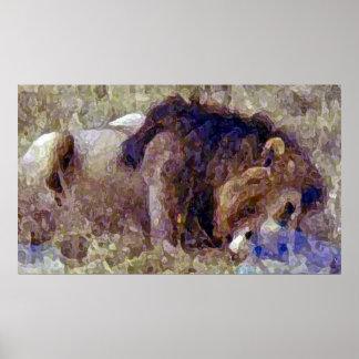 El tiempo de la comida del león impresiones