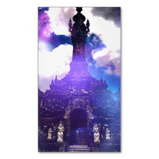 El tiempo del templo olvidó tarjetas de visita magnéticas
