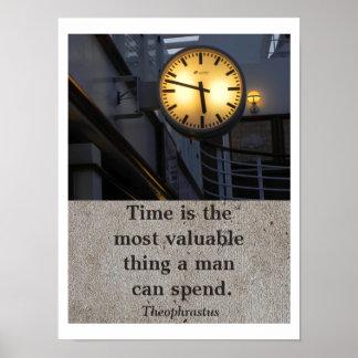 El tiempo tiene valor - poster del arte