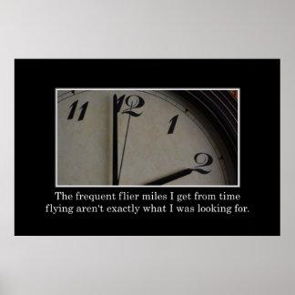 El tiempo va así que ayuno consigo las millas del  póster