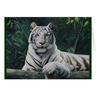 el tigre blanco tarjeta de felicitación