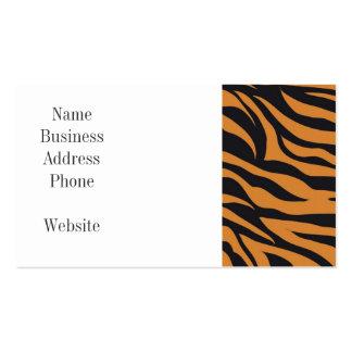 El tigre enrrollado raya los regalos de los tarjetas de visita