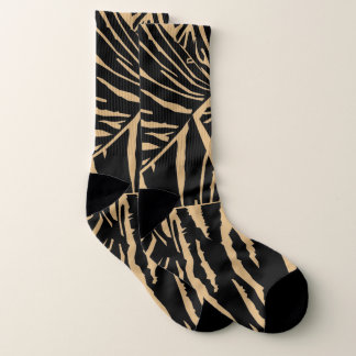 El tigre inspiró calcetines negros de la
