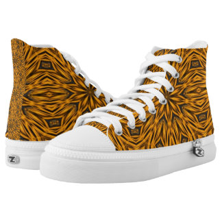 El tigre raya hola los zapatos impresos superiores