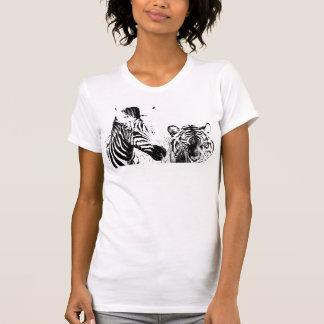 EL Tigre y la cebra Camisetas
