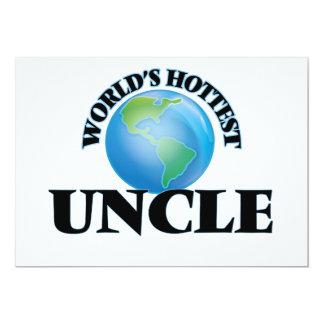 El tío más caliente del mundo invitación 12,7 x 17,8 cm