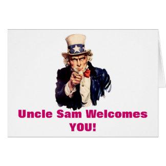 El tío Sam le acoge con satisfacción tarjeta