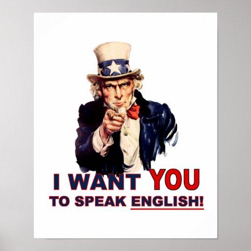 El tío Sam LE QUIERE habla inglés Impresiones