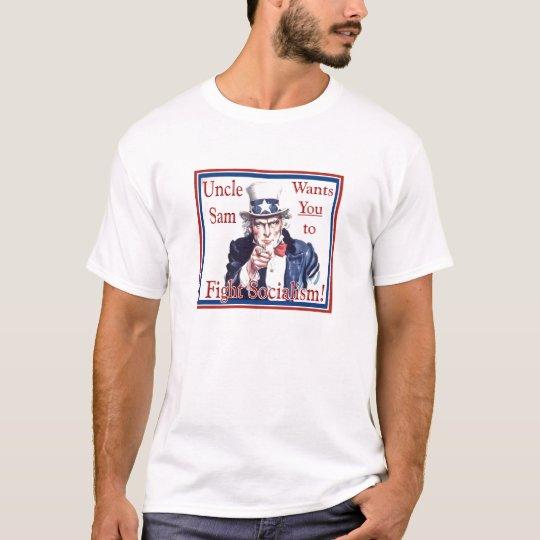 El tío Sam lucha la camiseta del socialismo