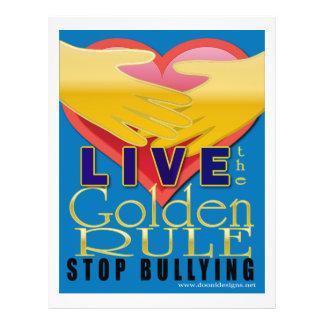 el tiranizar vivo de la parada de la norma de oro flyer a todo color