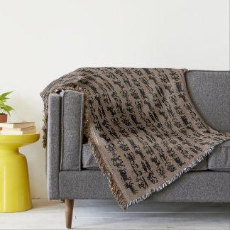 El tiro de la astrología cubre personalizar de los manta tejida