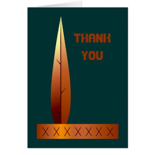 El tocado indio de la acción de gracias le tarjeta de felicitación