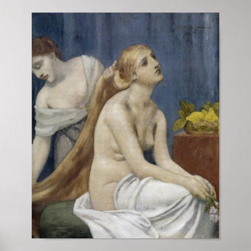 El Toilette de Puvis de Chavannes, 1883 Posters