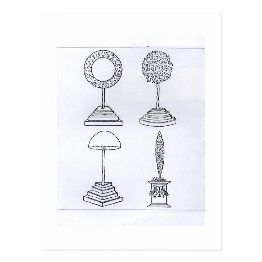 "El Topiary diseña, de ""Hypnerotomachia Poliphili"", Postal"