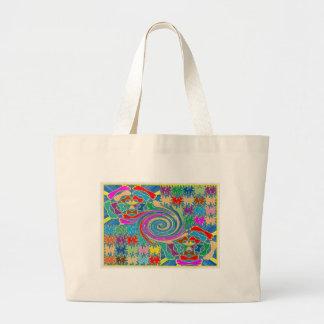 El torbellino agita los gráficos decorativos bolsas lienzo