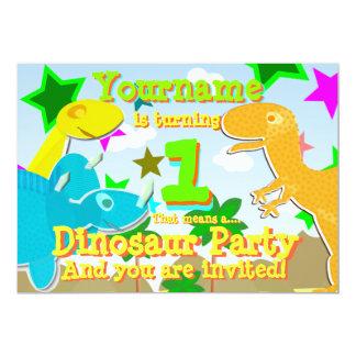 El torneado de 1 fiesta de cumpleaños del invitación 12,7 x 17,8 cm