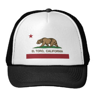 EL Toro de la bandera de California Gorros Bordados