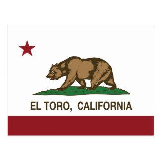 EL Toro de la bandera de la república de Postal