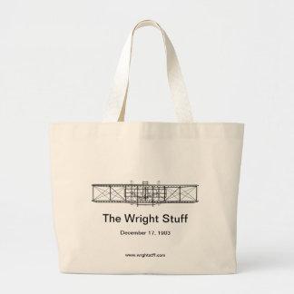 El tote de la materia de Wright Bolsa Tela Grande