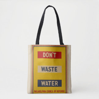 """El tote de las aguas residuales del vintage """"hace bolsa de tela"""
