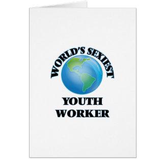El trabajador más atractivo de la juventud del tarjeta