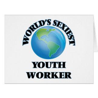 El trabajador más atractivo de la juventud del felicitación