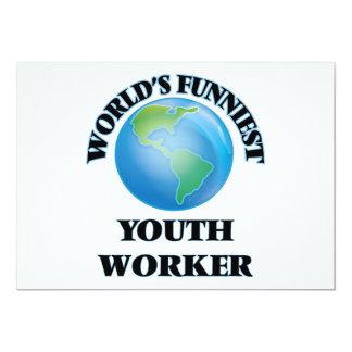 El trabajador más divertido de la juventud del invitación 12,7 x 17,8 cm