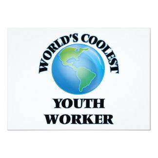 El trabajador más fresco de la juventud del mundo invitación 12,7 x 17,8 cm