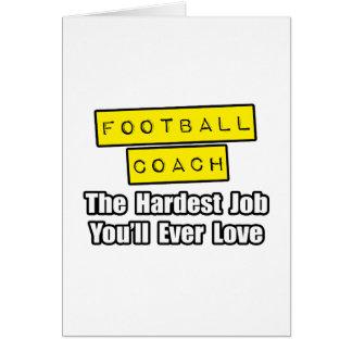 El trabajo más duro del entrenador de fútbol… que tarjeta