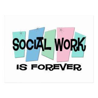 El trabajo social es Forever Tarjetas Postales
